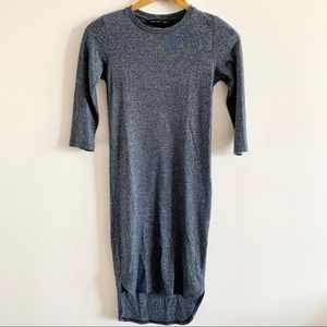 Topshop | Fitted Crew Neck 3/4 Sleeve Dress